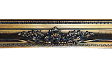 Detail of a Ornamental wooden gold frame Wall mural