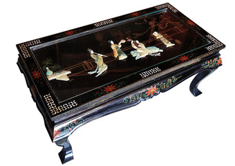 Beautifull decorated antique japanese living room table