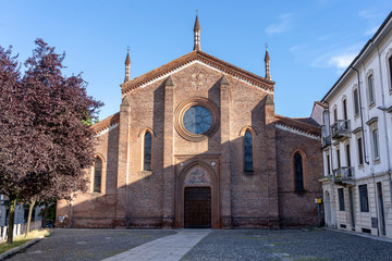 Vigevano, italy: historic San Pietro Martire church