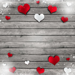 valentines day red white hearts