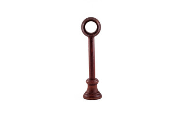 Wood finials for curtain rods system