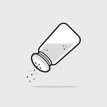 Salt shaker icon vector illustration
