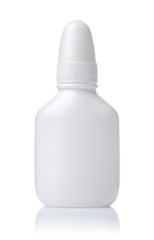 Front view of small blank plastic bottle