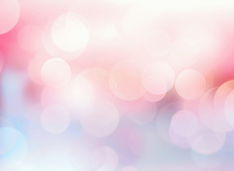 Pink blue blurred lights background.Abstract bokeh.