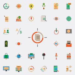 colored contextual targeting icon. marketing and business and digital marketing icons universal set for web and mobile