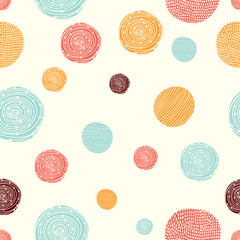 Cute seamless pattern, polka dot fabric, wallpaper, vector. Cheerful polka dot vector seamless pattern. Can be used in textile industry, paper, background, scrapbooking.