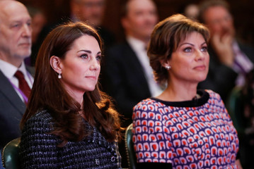 """Duchess of Cambridge attends the Royal Foundation's """"Mental Health in Education"""" conference in London"""