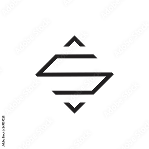 Letter S Arrow Line Square Logo Vector Stockfotos Und
