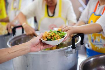 Feeding the poor : Getting food