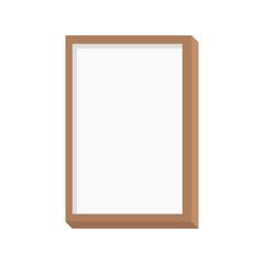 Wooden frame. Frame. Logo. Vector illustration. EPS 10.