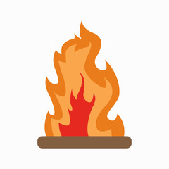 Bonfire. Fire. Fire logo. White background. Vector illustration. EPS 10.