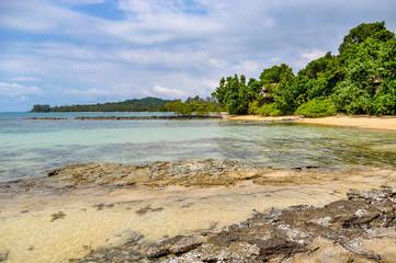 On the coast in Koh Ta Kiev Island, Sihanoukville, Cambodia