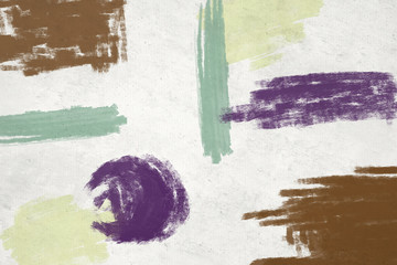 Abstract art background.  Multicolored bright texture.  Brushstrokes of paint. Modern art. Contemporary art. - Illustration
