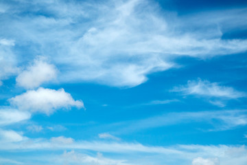 natural light blue cloudy sky background