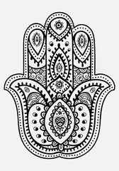 Hand mandala. Ethnic illustration for meditation.