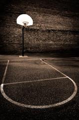 Urban Basketball Street Ball Outdoors in Park Asphalt