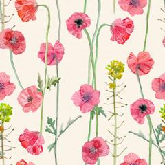 texture harmonieuse gracieuse avec fleur de coquelicots. peinture à l& 39 aquarelle