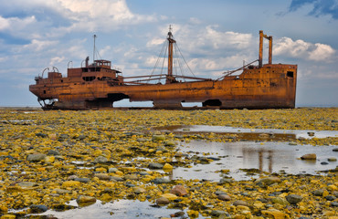 Wreck of the SS Ithaka, near Churchill, Manitoba