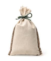 Small blank linen fabric bag