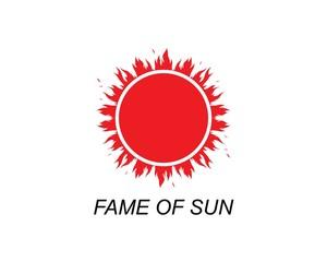 sun ilustration logo vector icon template
