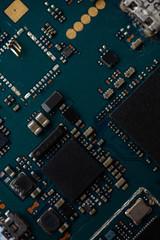 Macro photo of the chip