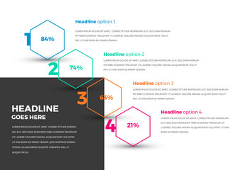Infographic Layout with Hexagon Elements