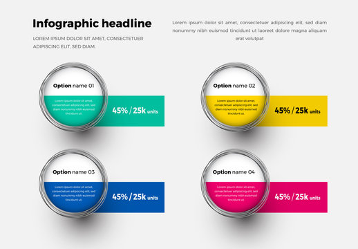 Infographic Layout with Magnified Circle Elements