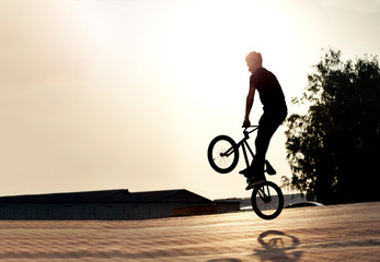 teenager on a bicycle