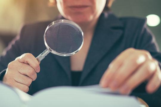 Business corruption audit inspection concept