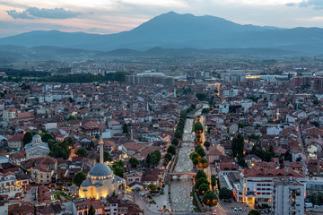 Beautiful Prizren, Kosovo Cityscape after Sunset