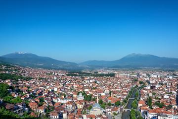 Prizren, Kosovo Cityscape with Alps in the Background