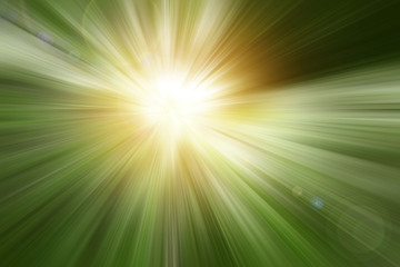 Green blurred explosion