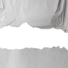 Torn paper edges