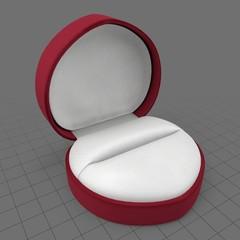 Heart shaped empty ring box