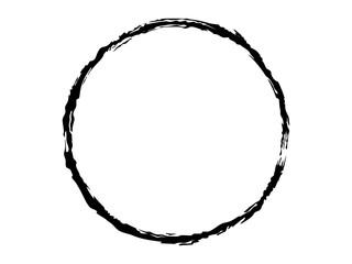 Grunge logo.Grunge circle.Grunge circle made for your project.Black paint circle.Black ink circle.