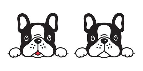 dog vector french bulldog icon character cartoon puppy smile logo illustration symbol doodle black