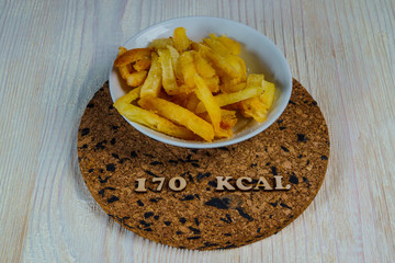 calorie foods french fries 170 kcal 100 grams diet