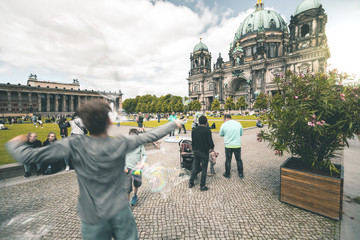 Crowded Dome Plaza - Berlin