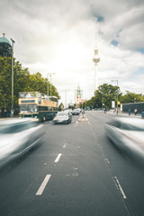 Busy Street and TV Tower - Berlin