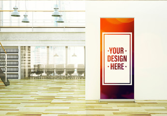 Roll-Up Banner in Office Mockup