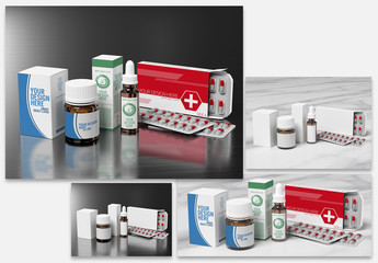 Pharmaceutical Packaging Mockup