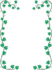 Ivy Leaves and Vines Border Vector Illustration
