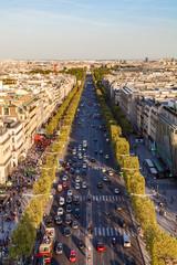 Verkehr, Champs-Elysées, Skyline, Paris