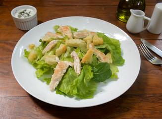 Delicious salad meal