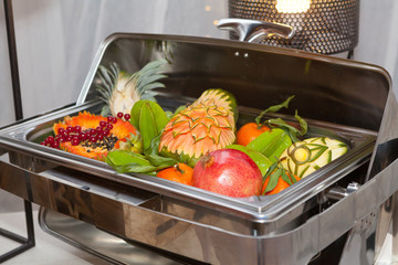 Buffet tray with fresh fruit