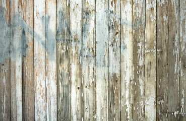 Old white wooden wall texture