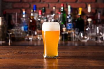 Refreshing Amber Craft Beer