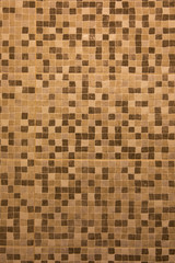 Abstract brown square mosaic background