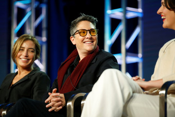 "Jill Soloway from ""Transparent"", Reed Morano from ""The Power,"" and Phoebe Waller-Bridge from ""Fleabag"" participate in the Amazon Studios panel ""Visionary Voices,"" in Pasadena"