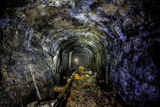Exploring old abandoned collapsed coal mine tunnel